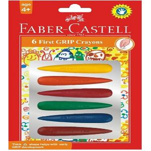 Faber-Castell First Grip Crayons 6 Pack