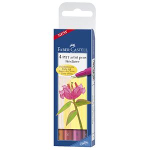 Faber-Castell Pitt Artist Fineliner Set 4 Warm Colours