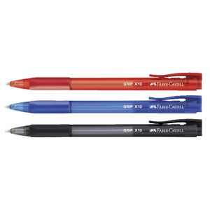 Faber-Castell Grip X Retractable Ballpoint Pens 3 Pack