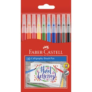 Faber-Castell Calligraphy Brush Markers Assorted 10 Pack