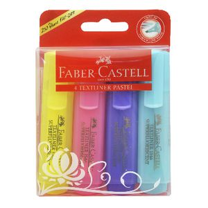 Faber-Castell Textliner Highlighters Pastel 4 Pack