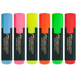 Faber-Castell Textliner Highlighters Assorted 6 Pack