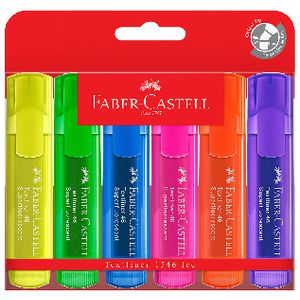 Faber-Castell Textliner Ice Highlighters Assorted 6 Pack
