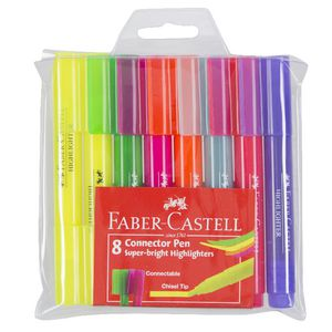 Faber-Castell Connector Pen Highlighters Assorted 8 Pack