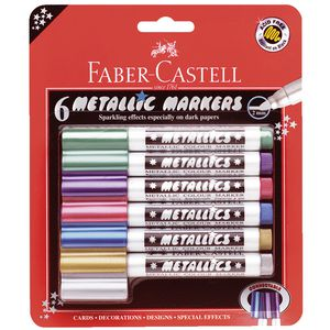 Faber-Castell Metallic Connector Pens 6 Pack