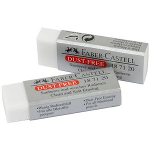 Faber-Castell Large Dust Free Eraser 2 Pack