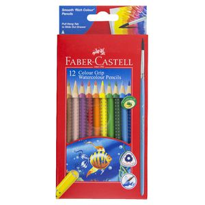 Faber-Castell Grip Watercolour Triangular Pencils 12 Pack