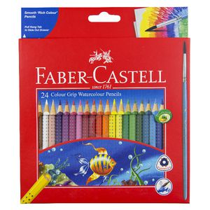 Faber-Castell Grip Watercolour Triangular Pencils 24 Pack