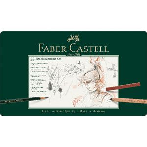 Faber-Castell Pitt Monochrome Pencil and Charcoal Set 33 Pack