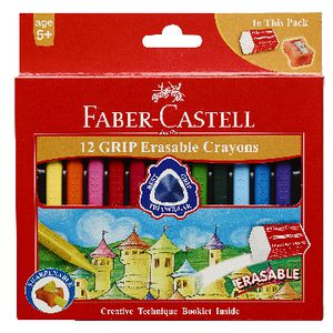 Faber-Castell Erasable Grip Crayons 12 Pack
