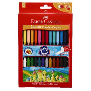 Faber-Castell Erasable Grip Crayons 24 Pack