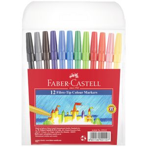 Faber-Castell Fibre Tip Colouring Pens 12 Pack