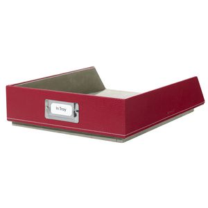 Otto Leather Look Document Tray Red