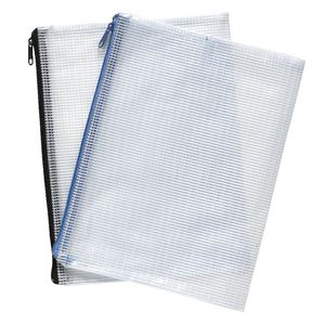 Studymate Mesh Pencil Case 250 x 208mm White