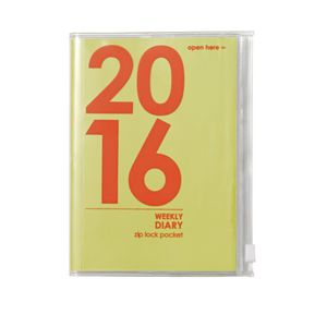 Otto A6 Week to View 2016 PVC Jacket Diary Green