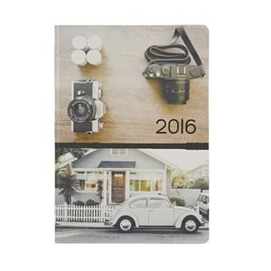 J.Burrows A5 Week to View 2016 Printed Camera Diary