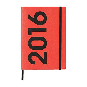 J.Burrows A5 Week to View 2016 Neon PU Diary Pink