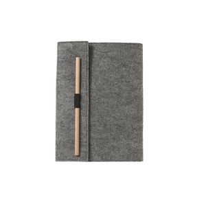 Otto A5 Journal Felt Wrap Grey 192 Page