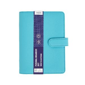 J.Burrows Criss-Cross 2017 Personal Timeplanner Cover Teal