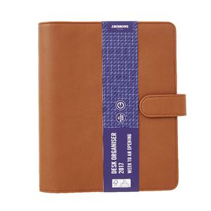 J.Burrows PU 2017 Desk Timeplanner Cover Tan