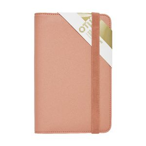 Otto Business Card Binder 3UP Criss Cross Coral