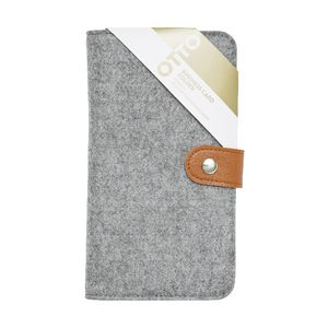 Otto Felt Business Card Folder Grey