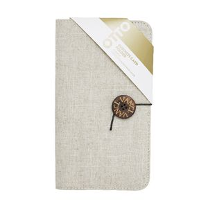 Otto Linen Business Card Folder Cream