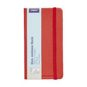 J.Burrows Slim Address Book Red