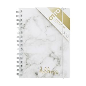 Otto A5 Spiral Address Book Marble