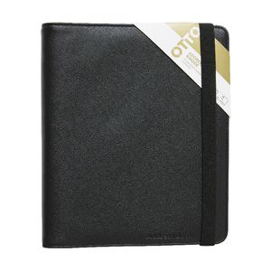Otto Quarto Criss Cross Address Book Binder Black