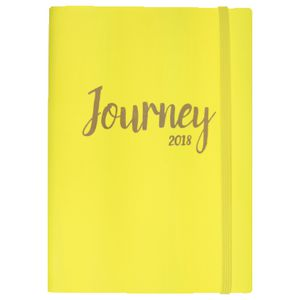 Otto A5 WTV 2018 Diary 144 Pages Neon Yellow