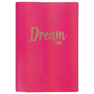 Otto A5 DTP 2018 Diary 400 Page Neon Pink