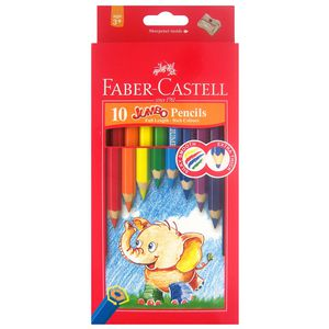 Faber-Castell Jumbo Coloured Pencils Assorted 10 Pack
