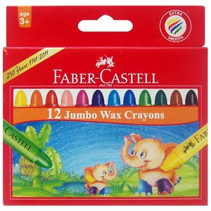Faber-Castell Jumbo Crayons 12 Pack
