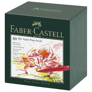 Faber Castell Pitt Artist Pen Studio Assorted 60 Pack