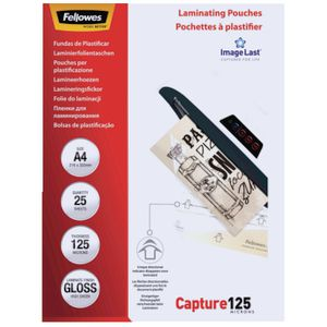 Fellowes Laminating Pouches A4 125 Micron 25 Pack | Tuggl
