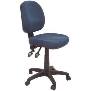 Rapidline Operator Chair Semi Ergonomic Medium Back Blue
