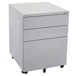 Rapidline 3 Drawer Mobile Pedestal Silver
