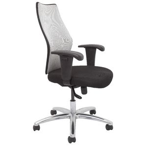 Rapidline AM200 Executive Medium Back Mesh Chair Silver