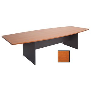 Rapidline Boat Boardroom Table 3000 x 1200mm Cherry