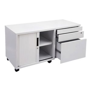 Rapidline Mobile Caddy with Drawers and Tambour Left Side