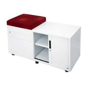 Rapidline Mobile Caddy with Drawers and Tambour Right Side