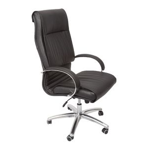 Rapidline Heavy Duty Executive Chair Chrome Base Black