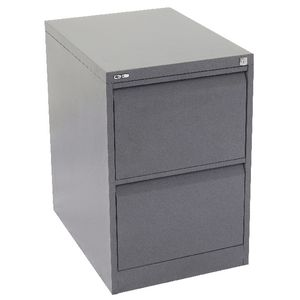 GO 2 Drawer Filing Cabinet Grey