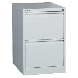 GO 2 Drawer Filing Cabinet Silver