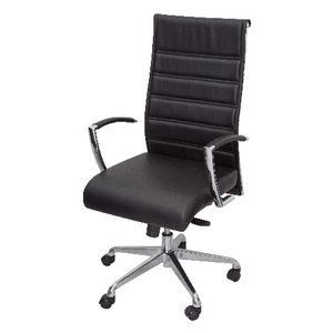 Rapidline Largo High Back Leather Chair BlackLeather Chairs   Plush Chairs online   Officeworks. Officeworks Chair. Home Design Ideas