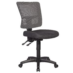 Rapidline River Operator Chair Mesh Back Silver