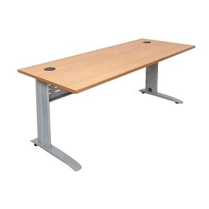 Rapidline Rapid Span Desk 1500 x 700mm Beech and Silver