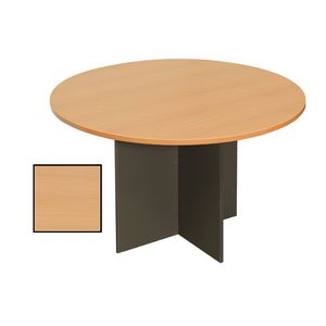 Rapidline Round Table 900mm Beech and Ironstone