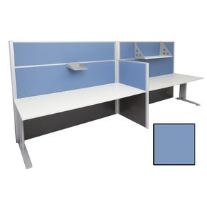 Rapid Screen 2 Person Workstation Blue Screen White Top